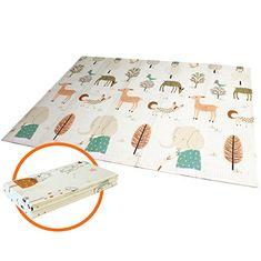 impermeable plegable portátil de doble cara para niños pequeños y bebés(200 x 180 cm) Takefuns Alfombrilla de juegos para bebé antideslizante extragrande reversible
