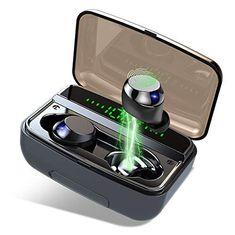 3500mAh 140H Spielzeit CVC8.0 【Neuestes Modell】Bluetooth Kopfh/örer IPX8 Wasserdicht Sport Kopfh/örer Donerton Kopfh/örer Kabellos Bluetooth 5.0 In Ear Kopfh/örer HD-Stereo Mikrofon LED Digitalanzeige